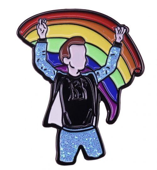 """Ženkliukas """"Aš su Vaivorykštė vėliava """"(LGBT)"""
