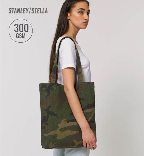 SS Komufliažinis maišelis Stanley Stella Shopping Tote Bag AOP STAU 767 unisex