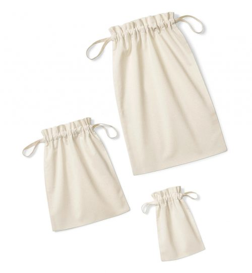 Maišiukai Organic Cotton Drawcord Bag 632.28 W118 Westford Mill