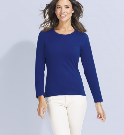 Marškinėliai moterims ilgomis rankovėmis SOLS MAJESTIC – 11425