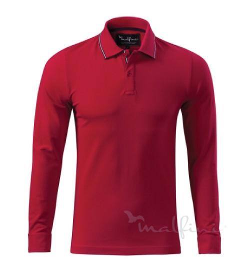 Polo marškinėliai ilgomis rankovėmis CONTRAST STRIPE LS 258  MALFINI ADLER