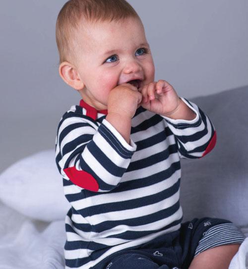 Dryžuoti marškinėliai Baby Stripy BZ38 Mantis 008.47