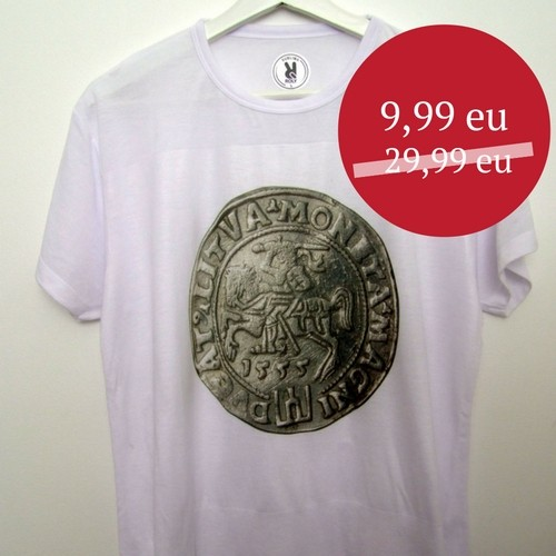 IŠPARDAVIMAS Marškinėliai su spaudu LDK Moneta