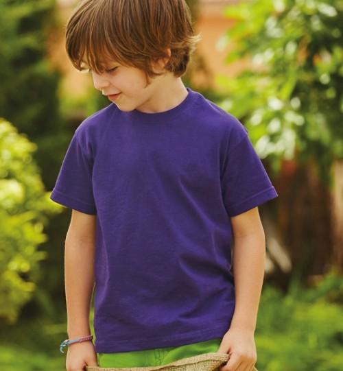 Marškinėliai vaikiški FRUIT OF THE LOOM Kids Value Weight T 158.01