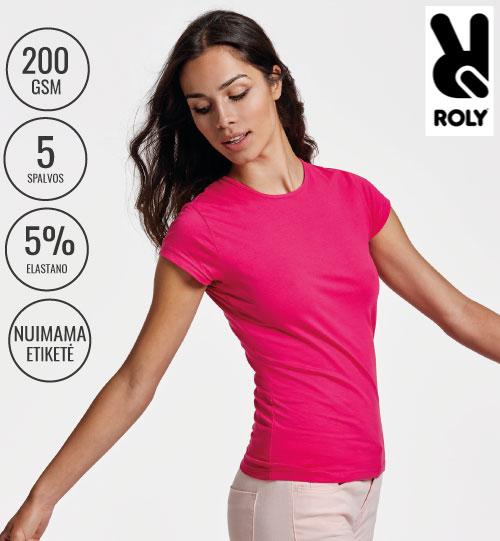 Marškinėliai moteriški Roly Bali 6597