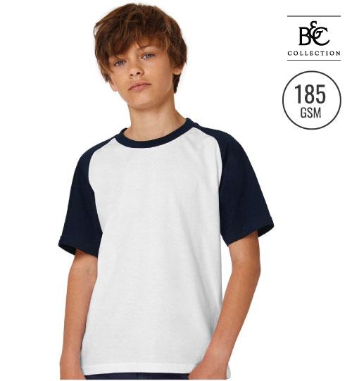 Marškinėliai Base-Ball/kids 118.42 TK 350 B&C