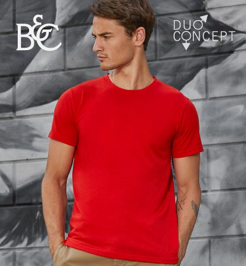 Marškinėliai B&C TM055 Triblend/men