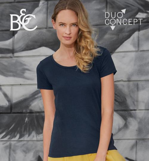 Marškinėliai B&C TM056 Triblend/women