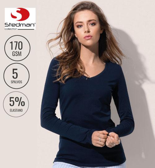 Marškinėliai Claire Long Sleeve 126.05  ST9720 STEDMAN