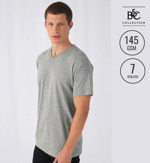 Vyriški marškinėliai  EXACT V-NECK  149.42 TU006 B&C