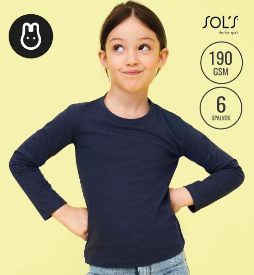 Marškinėliai Imperial Kids LSL 02947 SOL'S