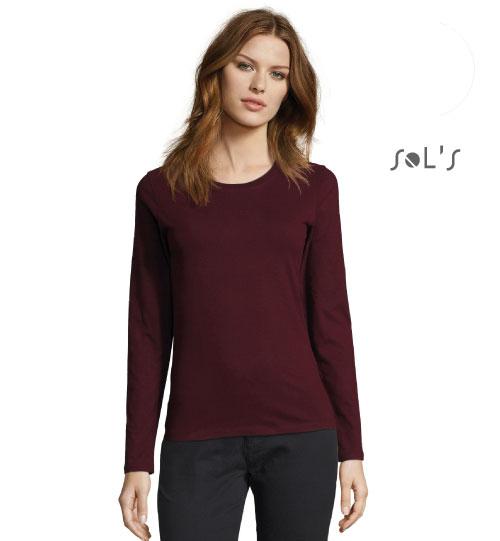 Marškinėliai Imperial LSL Women 02075 SOLS