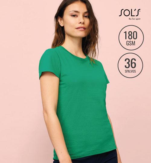Marškinėliai SOLS Imperial women – 11502