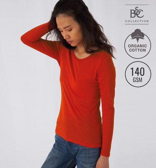 Marškinėliai Inspire LSL T/women 018.42 TW071 B&C