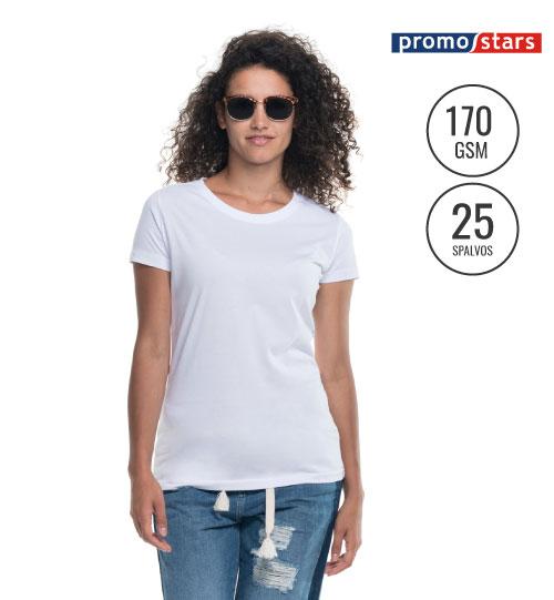 Marškinėliai moterims Promostars Ladies Heavy 22160