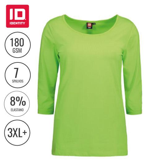 Marškinėliai Ladies' stretch 3/4 sleeved 0591 ID IDENTITY