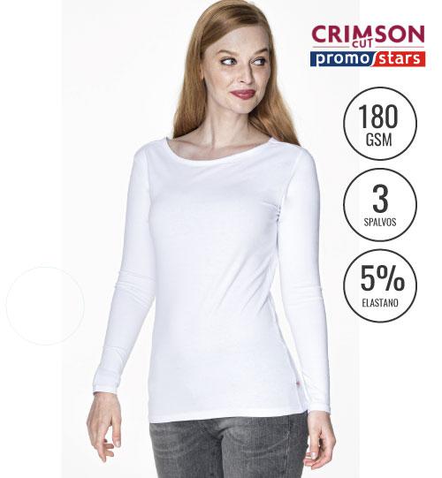 Marškinėliai Ladies Voyage Plus 21433 CRIMSON CUT PROMOSTARS