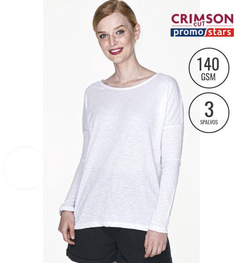 Marškinėliai Loose 21333 CRIMSON CUT PROMOSTARS