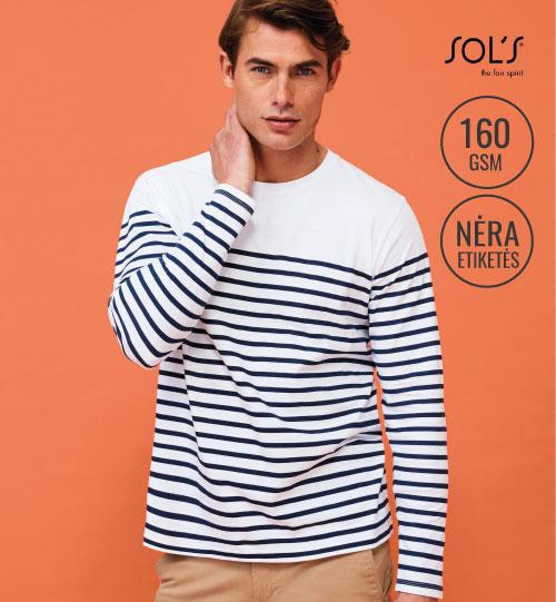 Marškinėliai Matelot LSL Men 03099 SOL'S