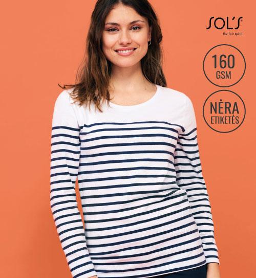 Marškinėliai Matelot LSL Women 03100 SOL'S
