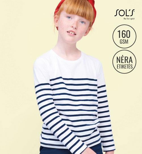 Marškinėliai Matelot LSL Kids 03101 SOL'S