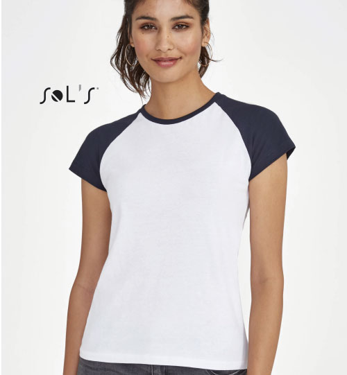 Marškinėliai moterims Milky 11195 SOLS