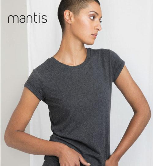 Marškinėliai Women Organic Roll Sleeve T 148.48 M81 MANTIS