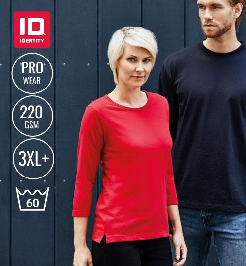 Marškinėliai Ladies' PRO Wear 3/4 sleeved 0313 ID IDENTITY