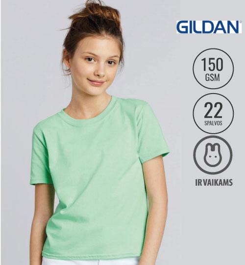 Marškinėliai  Softstyle Youth T-Shirt 138.09 64000B GILDAN