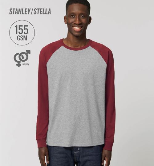 SS Marškinėliai Stanley & Stella Catcher Long Sleeve STTU 826 unisex