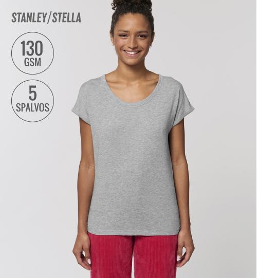 Marškinėliai su skeltukais Stanley Stella Rounder Slub STTW 112 women