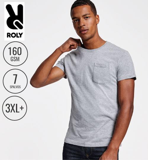 Marškinėliai su kišene Teckel 6523 ROLY
