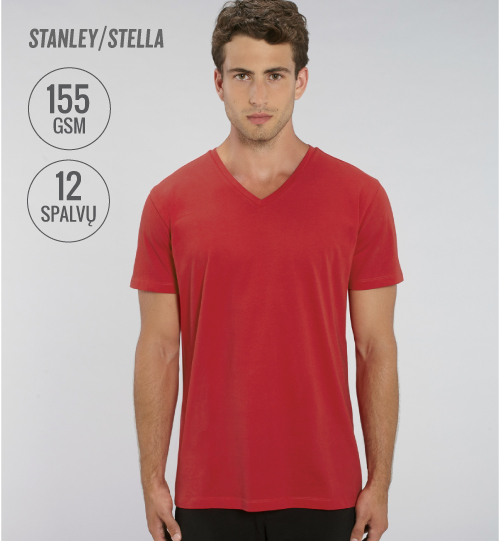 Marškinėliai su V kaklu Stanley Stella PRESENTER STTM 562 men