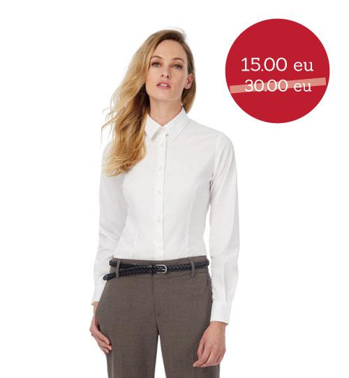 IŠPARDAVIMAS Marškiniai Black Tie LSL/Women SW P23 B&C