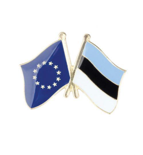 Ženkliukas Europos Sąjungos ir Estijos vėliavos