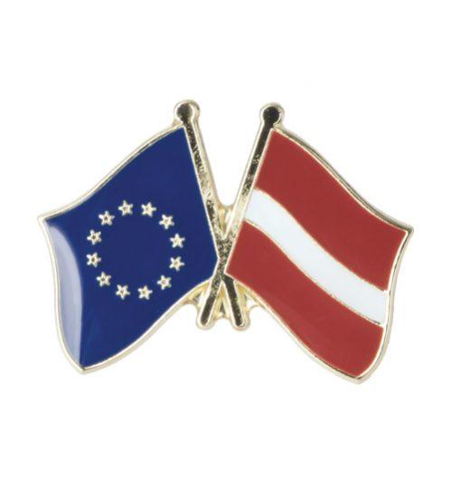 Ženkliukas Europos Sąjungos ir Latvijos vėliavos