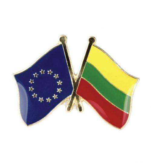 Ženkliukas Europos Sąjungos ir Lietuvos vėliavos