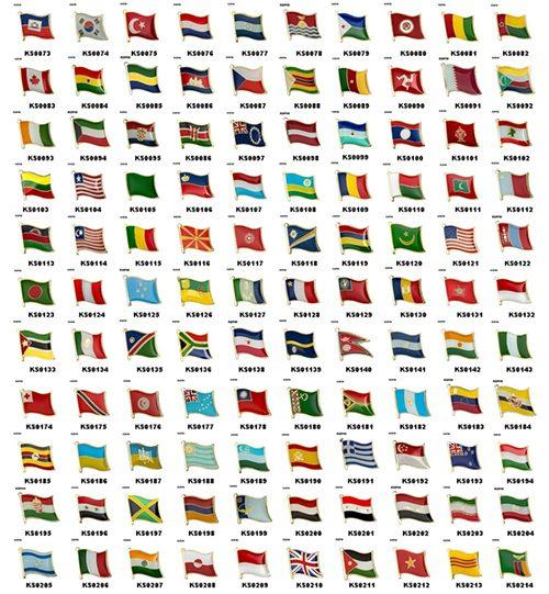 """Ženkliukų gamyba: ženkliukai """"Pasaulio vėliavos"""""""