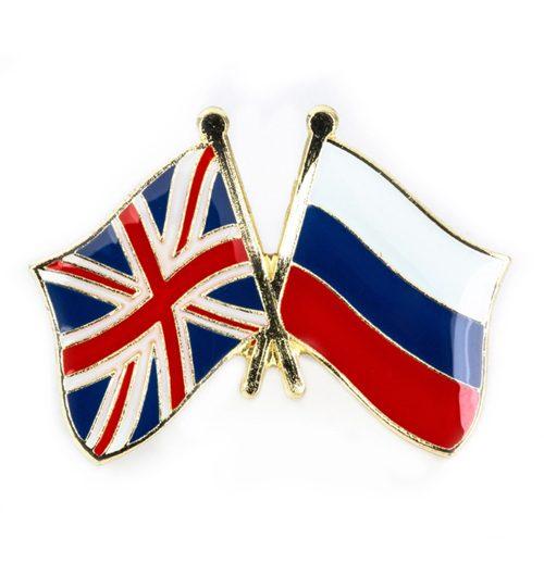 """Ženkliukų gamyba: ženkliukas """"Anglijos ir Rusijos vėliavos"""""""