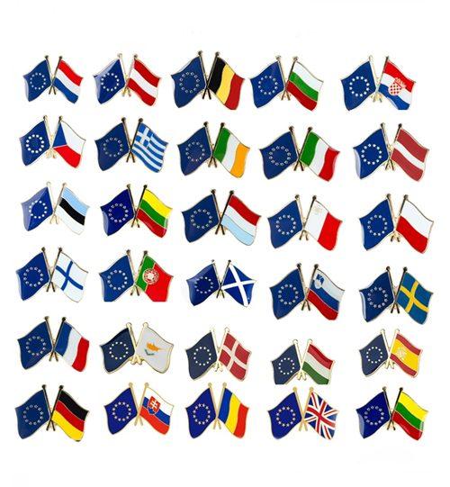 """Ženkliukas """"Europos Sąjungos narių vėliavos"""" Ženkliukų gamyba"""