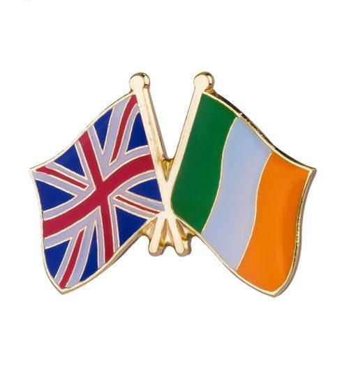 """Ženkliukų gamyba: ženkliukas """"Anglijos ir Airijos vėliavėlės"""""""