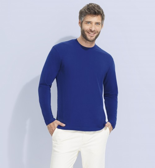 Marškinėliai vyriški  ilgomis rankovėmis SOLS MONARCH – 11420