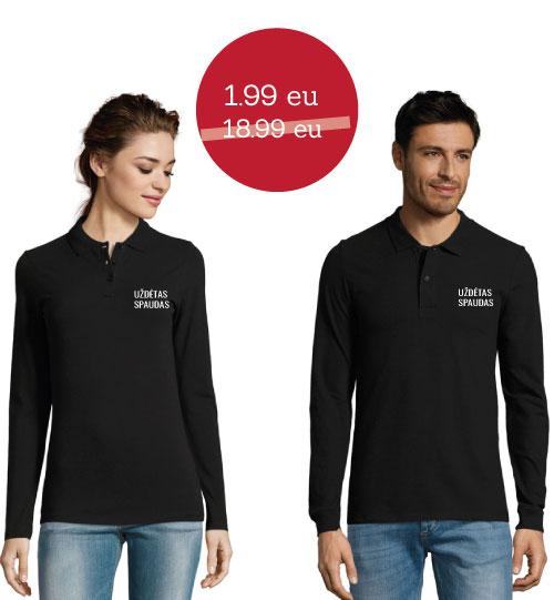 IŠPARDAVIMAS Polo marškinėliai Perfect man/Perfect woman LSL SOLS