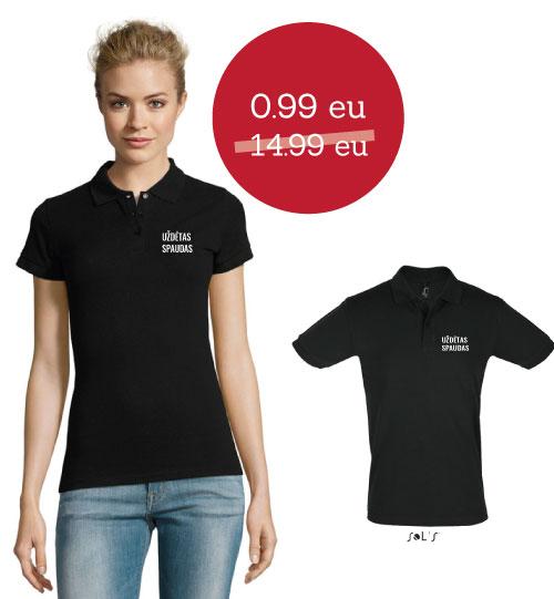 IŠPARDAVIMAS Polo marškinėliai Perfect man/Perfect woman SOLS
