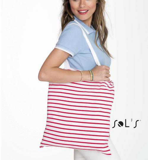Dryžuotas pirkinių krepšys Luna 02097 SOLS