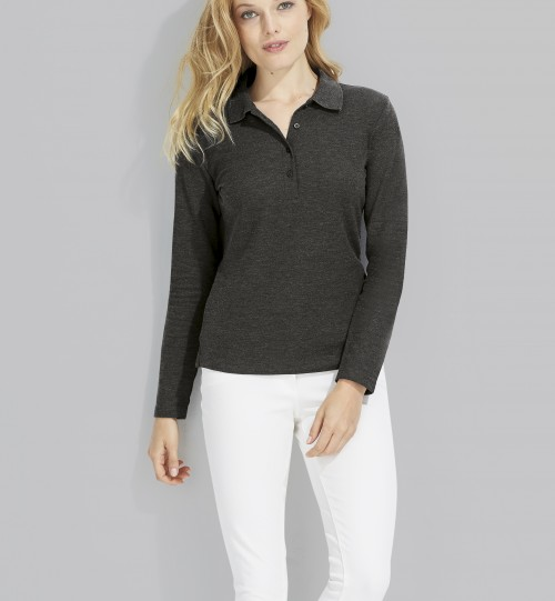 Polo marškinėliai ilgomis rankovėmis PODIUM  Sols – 11317