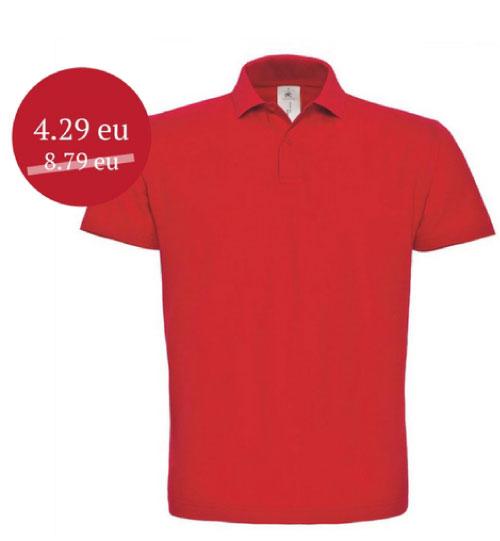 IŠPARDAVIMAS Polo marškinėliai B&C ID 001