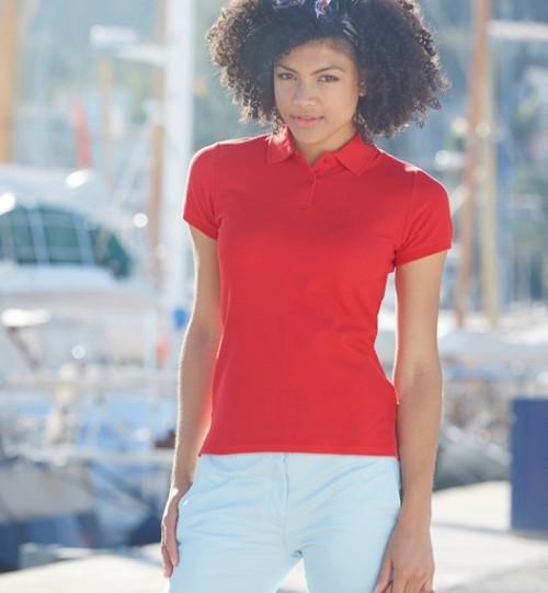 Polo marškinėliai moterims FRUIT OF THE LOOM Lady-Fit Premium Polo 528.01