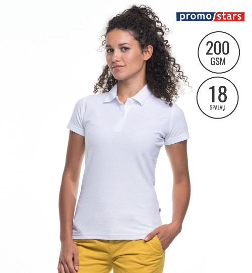 Polo marškinėliai Ladies' Cotton 42195 PROMOSTARS