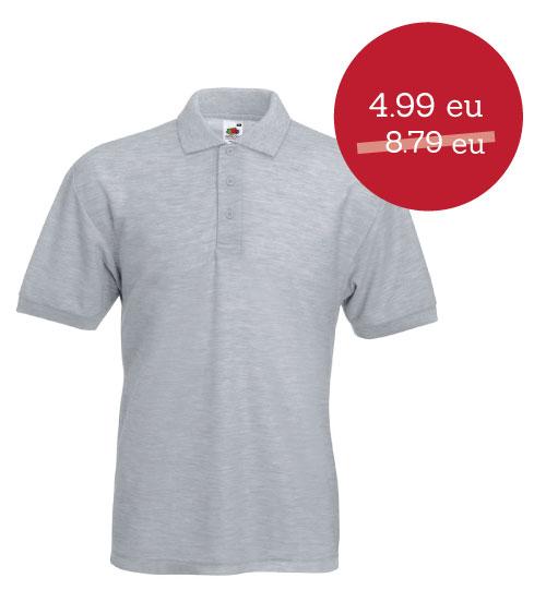 IŠPARDAVIMAS Polo marškinėliai 65/35 539.01 63-402-0 FRUIT OF THE LOOM